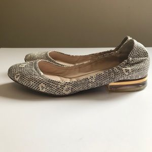 Chloe lizard embossed leather flat shoes size 36